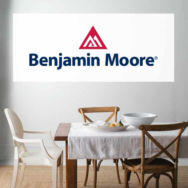 Shop Benjamin Moore at Park Supply - Benjamin Moore logo with painted dining room