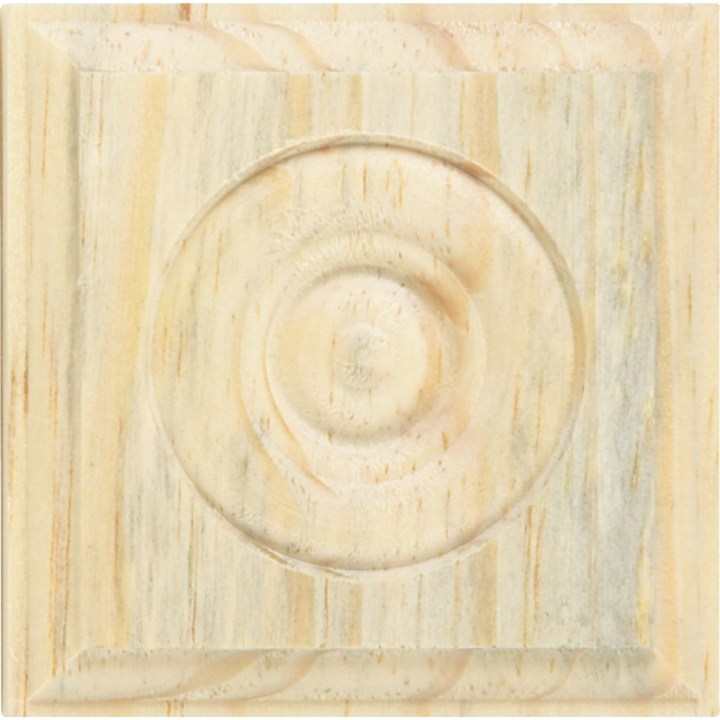 House of Fara 7/8 In. x 2-1/2 In. Unfinished Pine Rosette Image 3