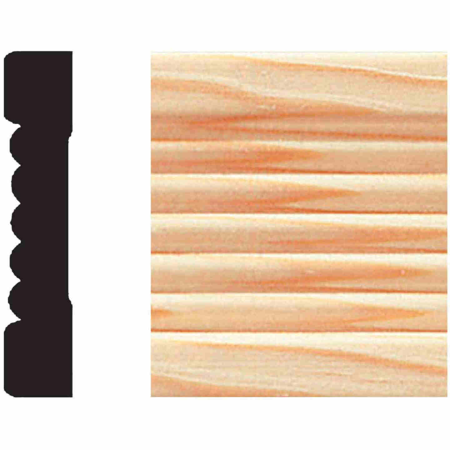 House of Fara 7/16 In. W. x 2-1/4 In. H. x 7 Ft. L. Natural Pine Fluted Wood Casing Image 1