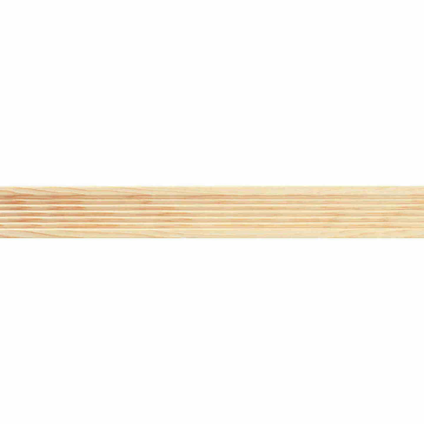 House of Fara 7/16 In. W. x 2-1/4 In. H. x 7 Ft. L. Natural Pine Fluted Wood Casing Image 2