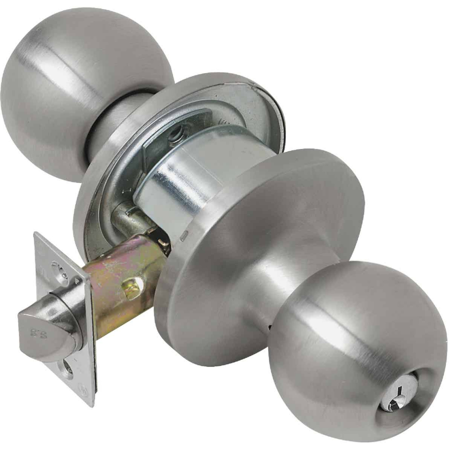 Tell Satin Stainless Steel Entry Door Knob  Image 1