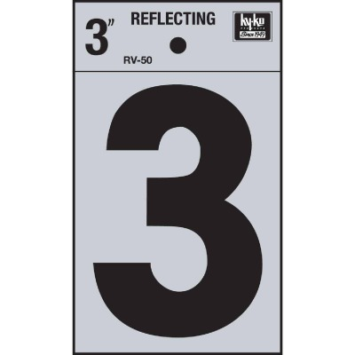 Hy-Ko Vinyl 3 In. Reflective Adhesive Number Three