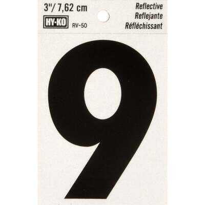 Hy-Ko Vinyl 3 In. Reflective Adhesive Number Nine