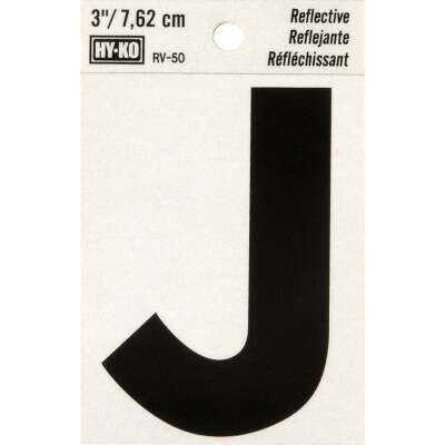 Hy-Ko Vinyl 3 In. Reflective Adhesive Letter, J