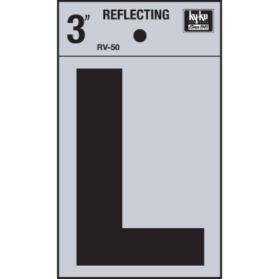 Hy-Ko Vinyl 3 In. Reflective Adhesive Letter, L