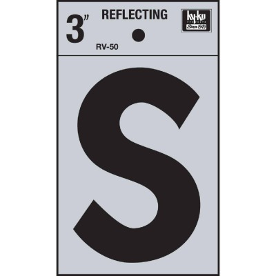Hy-Ko Vinyl 3 In. Reflective Adhesive Letter, S