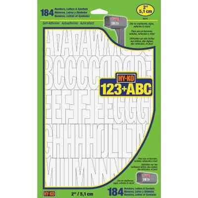 Hy-Ko 2 In. White Vinyl Letters, Numbers & Symbols (184 Count)