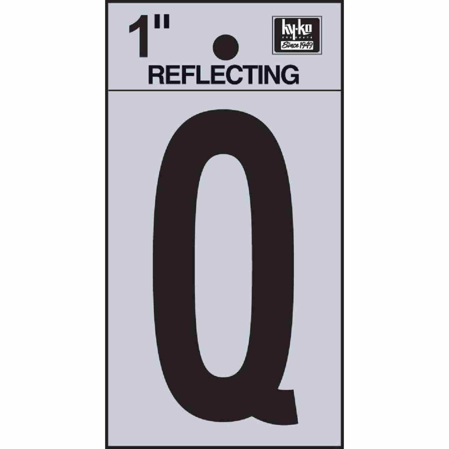 Hy-Ko Vinyl 1 In. Reflective Adhesive Letter, Q Image 1