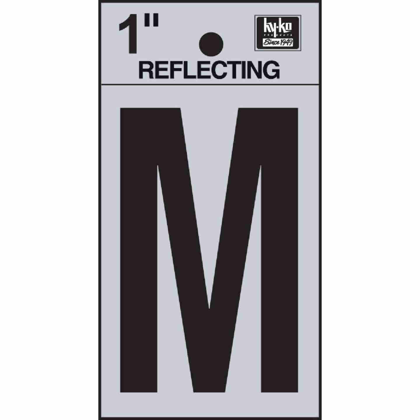Hy-Ko Vinyl 1 In. Reflective Adhesive Letter, M Image 1