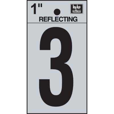 Hy-Ko Vinyl 1 In. Reflective Adhesive Number Three