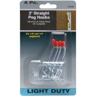 2 In. Light Duty Safety Tip Straight Pegboard Hook (4-Count) Image 4