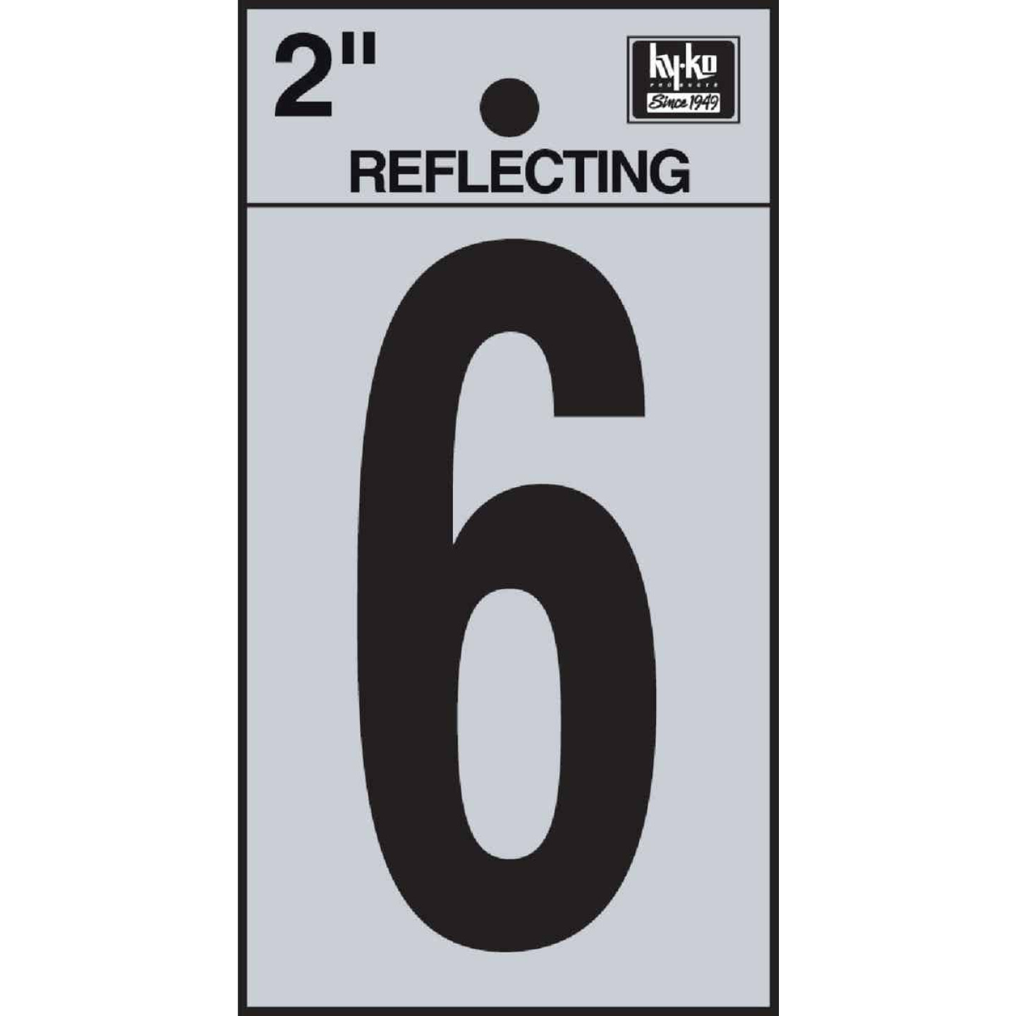 Hy-Ko Vinyl 2 In. Reflective Adhesive Number Six Image 1