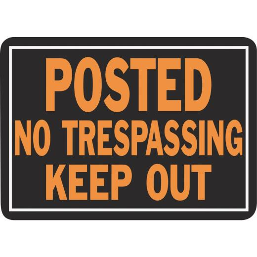 Hy-Ko Aluminum Sign, Posted No Trespassing Keep Out