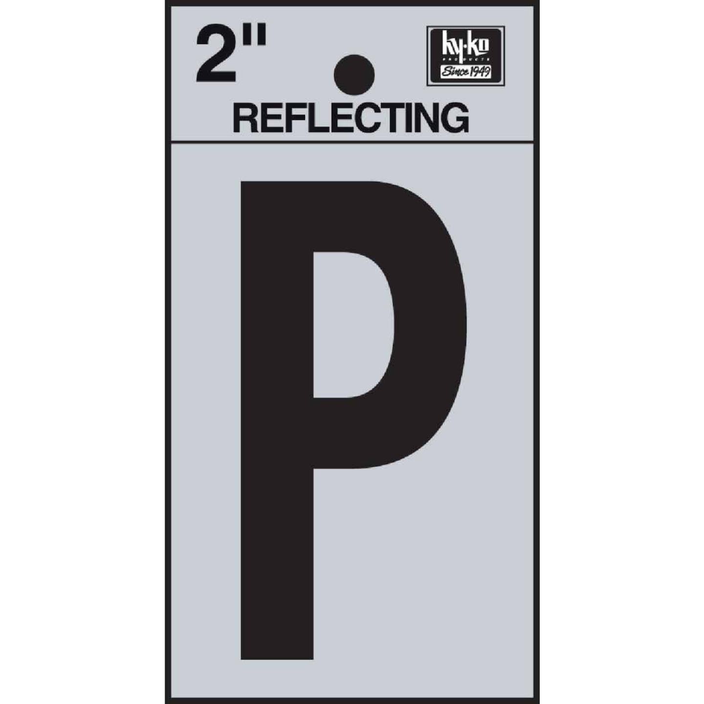 Hy-Ko Vinyl 2 In. Reflective Adhesive Letter, P Image 1