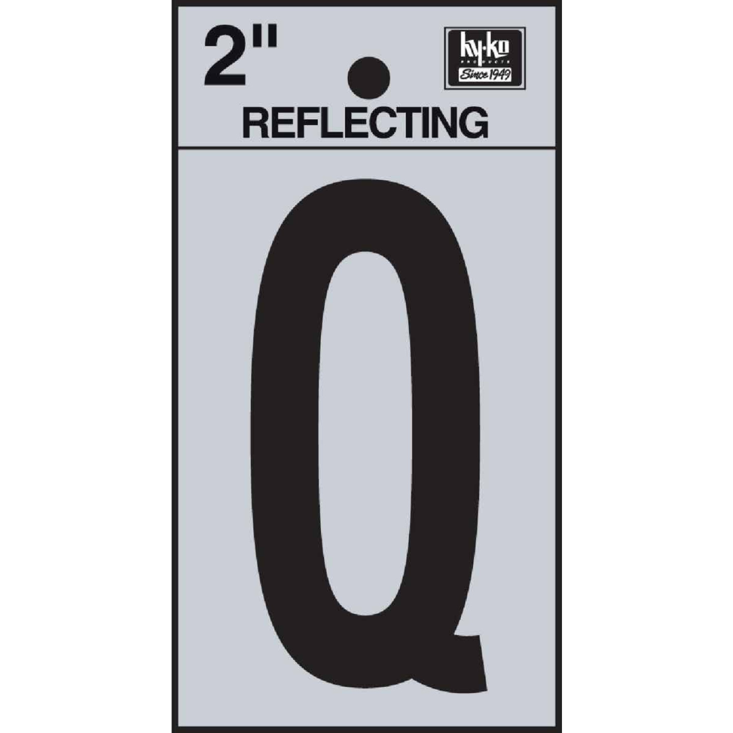 Hy-Ko Vinyl 2 In. Reflective Adhesive Letter, Q Image 1