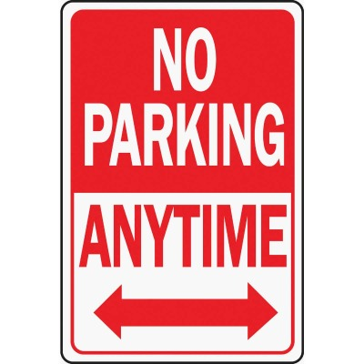 Hy-Ko Heavy-Duty Aluminum Sign, No Parking Anytime