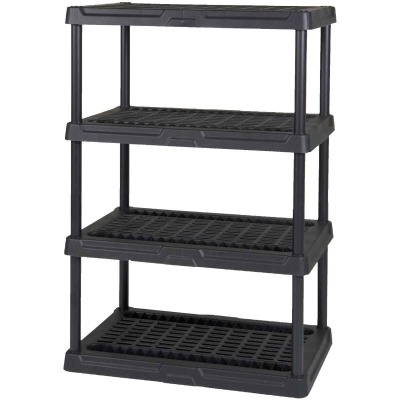 Gracious Living 4 Shelf Heavy Duty Black Ventilated Unit