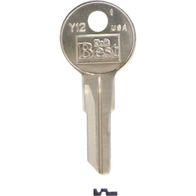 ILCO Yale Nickel Plated House Key, Y12 (10-Pack)