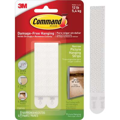 Command 1/2 In. x 3-5/8 In. White Interlocking Picture Hanger (4 Count)