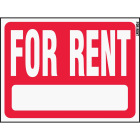 Hy-Ko Plastic Sign, For Rent Image 1