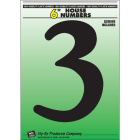 Hy-Ko 6 In. Black Gloss House Number Three Image 1