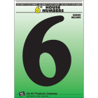 Hy-Ko 6 In. Black Gloss House Number Six Image 1