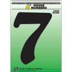 Hy-Ko 6 In. Black Gloss House Number Seven Image 1