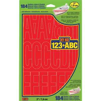 Hy-Ko 3 In. Red Vinyl Letters, Numbers & Symbols (184 Count)
