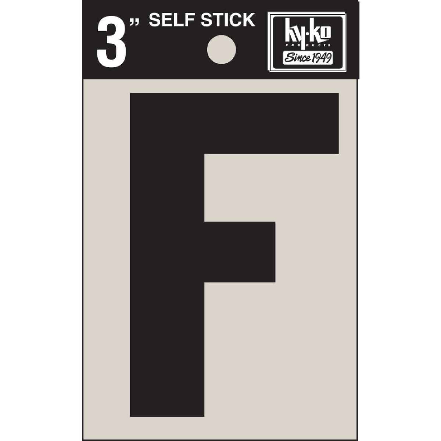 Hy-Ko Vinyl 3 In. Non-Reflective Adhesive Letter, F Image 1