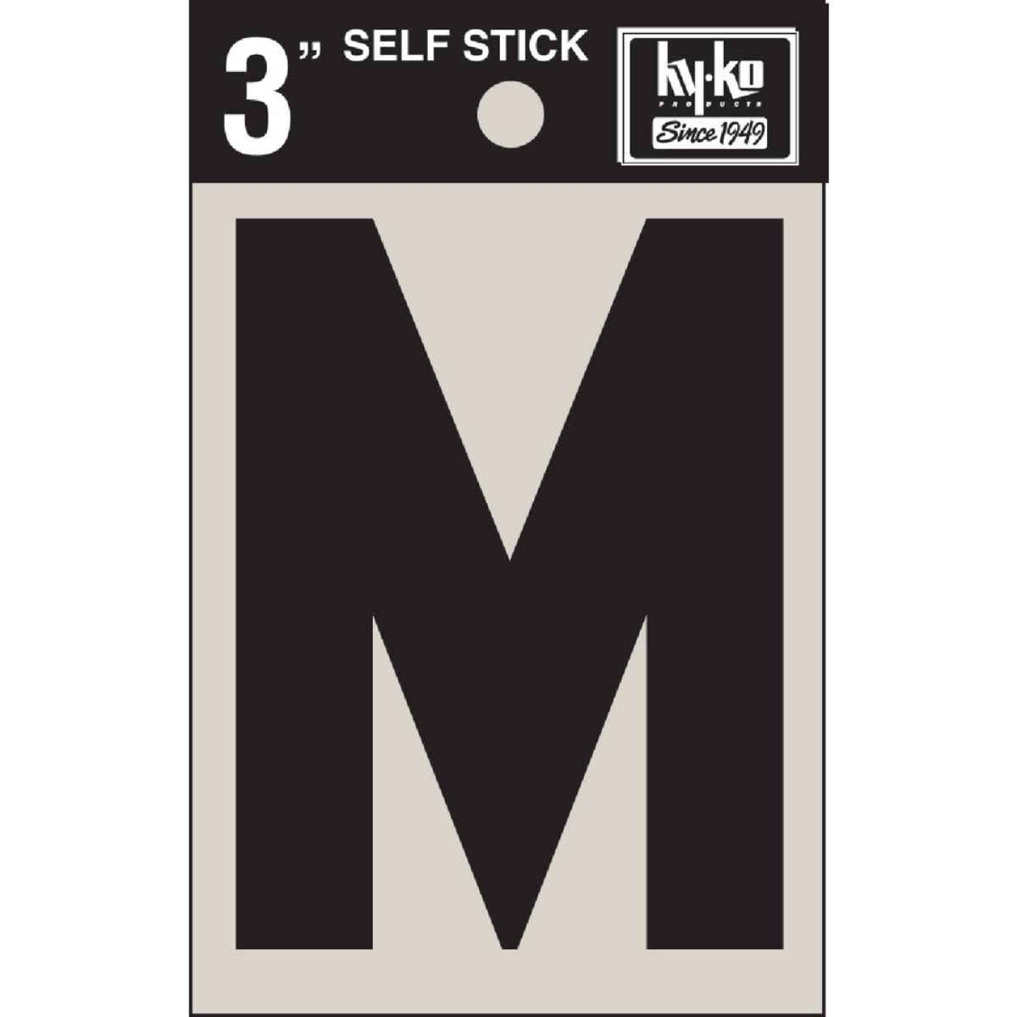 Hy-Ko Vinyl 3 In. Non-Reflective Adhesive Letter, M Image 1