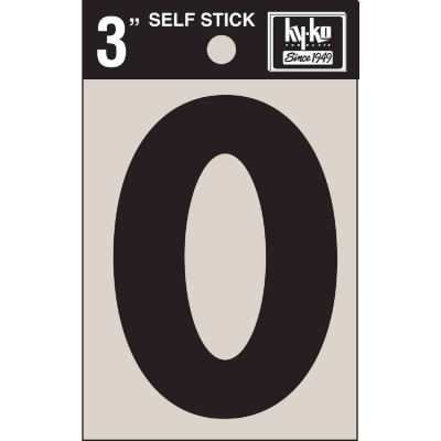 Hy-Ko Vinyl 3 In. Non-Reflective Adhesive Letter, O