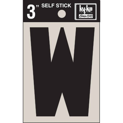 Hy-Ko Vinyl 3 In. Non-Reflective Adhesive Letter, W