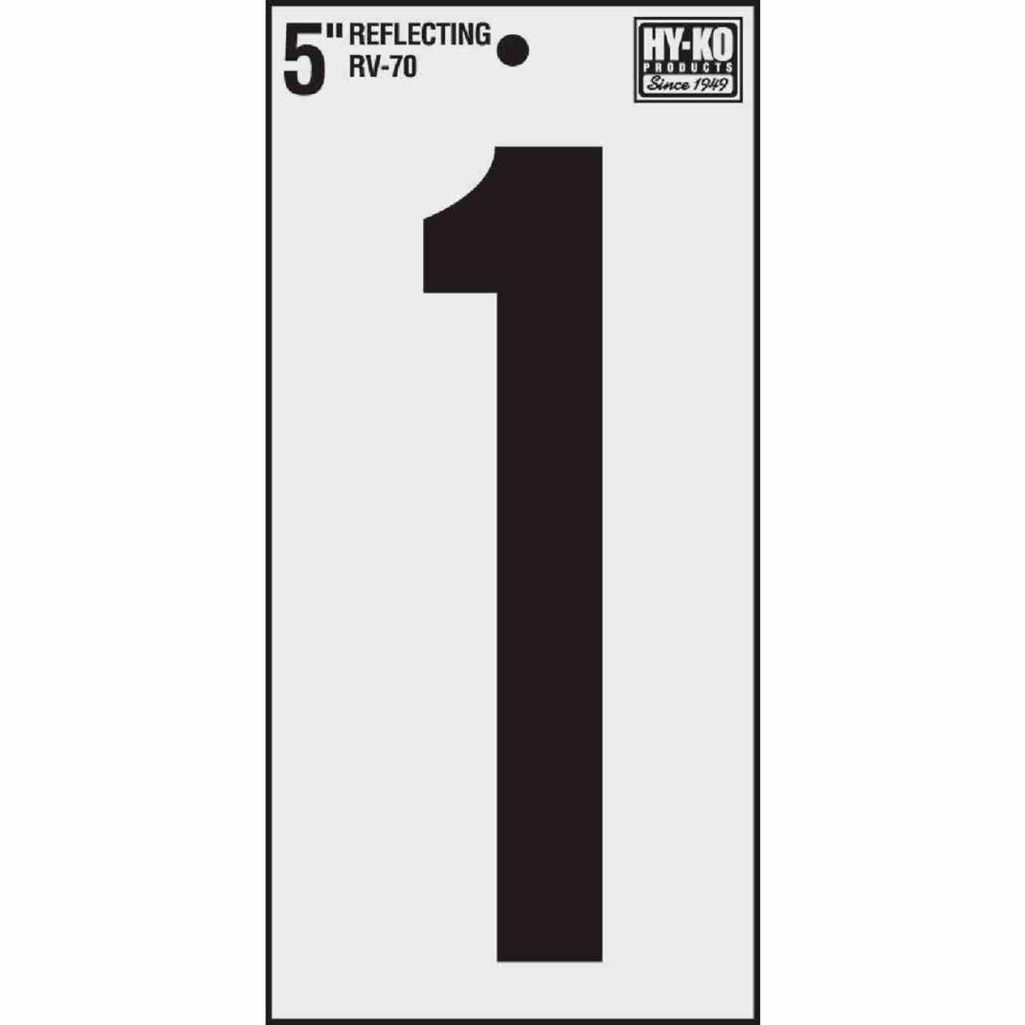 Hy-Ko Vinyl 5 In. Reflective Adhesive Number One Image 1