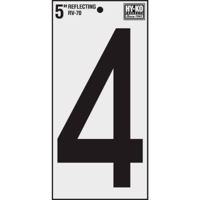 Hy-Ko Vinyl 5 In. Reflective Adhesive Number Four