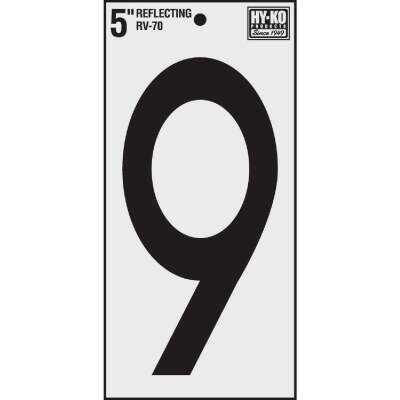 Hy-Ko Vinyl 5 In. Reflective Adhesive Number Nine