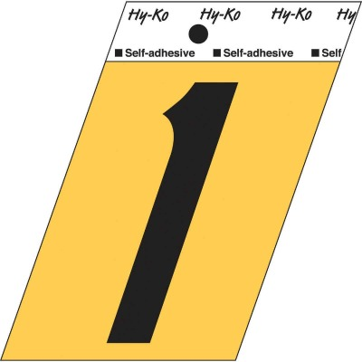 Hy-Ko Aluminum 3-1/2 In. Non-Reflective Adhesive Number One