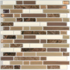 Smart Tiles Approx. 10 In. x 10 In. Glass-Like Vinyl Backsplash Peel & Stick, Bellagio Nola Mosaic (4-Pack) Image 1