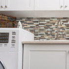 Smart Tiles Approx. 10 In. x 10 In. Glass-Like Vinyl Backsplash Peel & Stick, Bellagio Nola Mosaic (4-Pack) Image 2