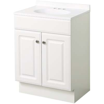 Zenith Zenna Home White 36 In. W x 35 In. H x 18 In. D Vanity with White Cultured Marble Top