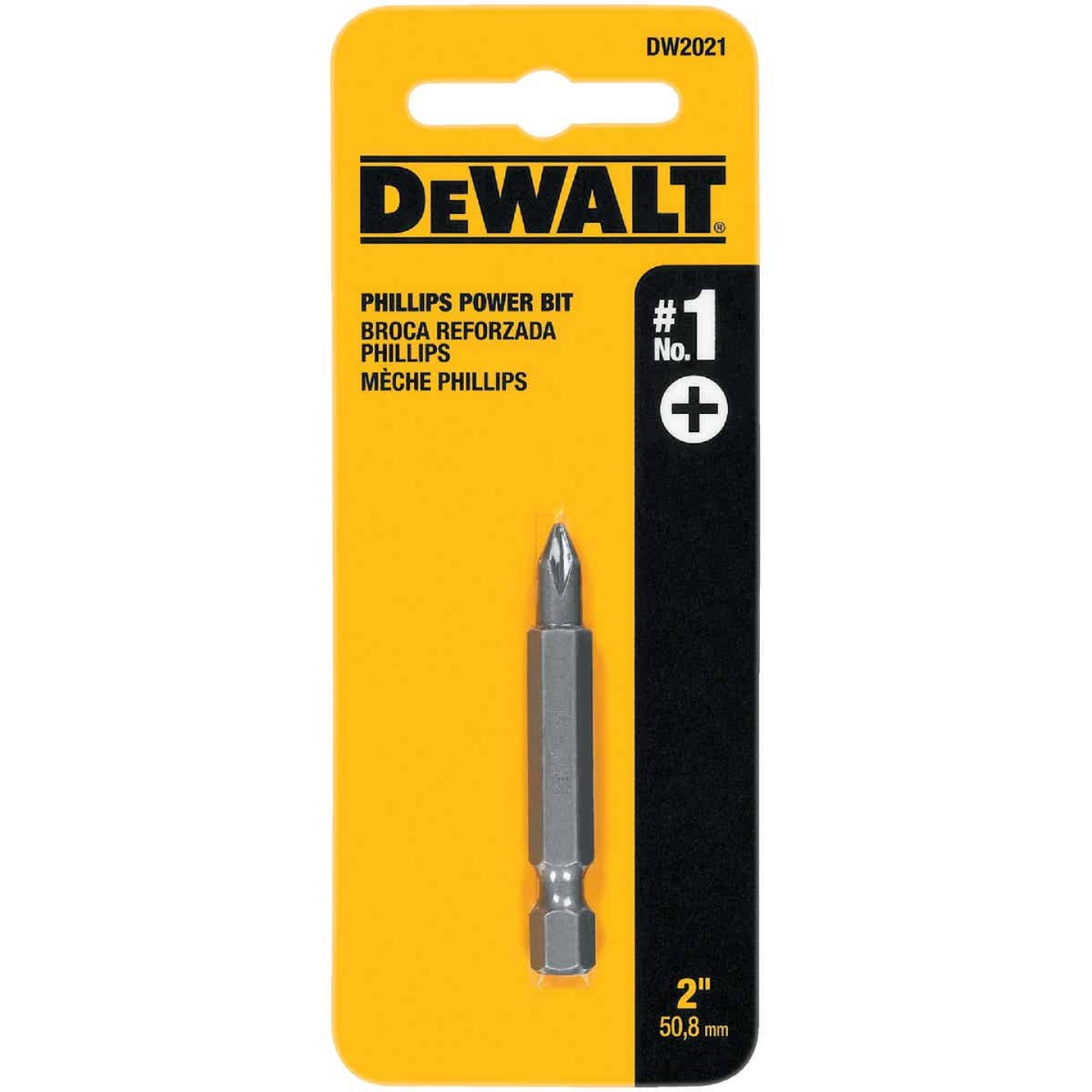 DeWalt Phillips #1 2 In. Power Screwdriver Bit Image 1