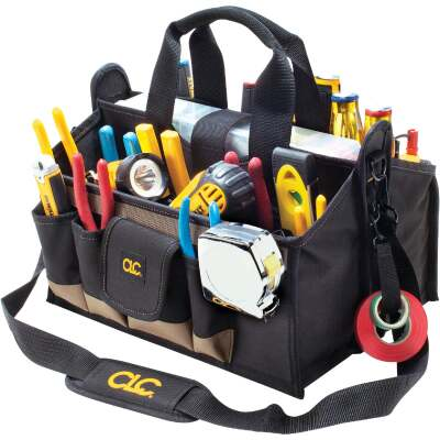 CLC 17-Pocket 16 In. Center Tray Tool Bag
