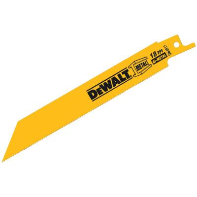 DeWalt 6 In. 18 TPI Medium Metal Reciprocating Saw Blade (2-Pack)