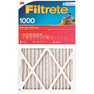3M Filtrete 14 In. x 24 In. x 1 In. Allergen Defense 1000/1085 MPR Furnace Filter