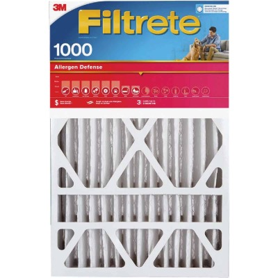 3M Filtrete 16 In. x 20 In. x 1 In. Allergen Defense 1000/1085 MPR Furnace Filter (2-Pack)