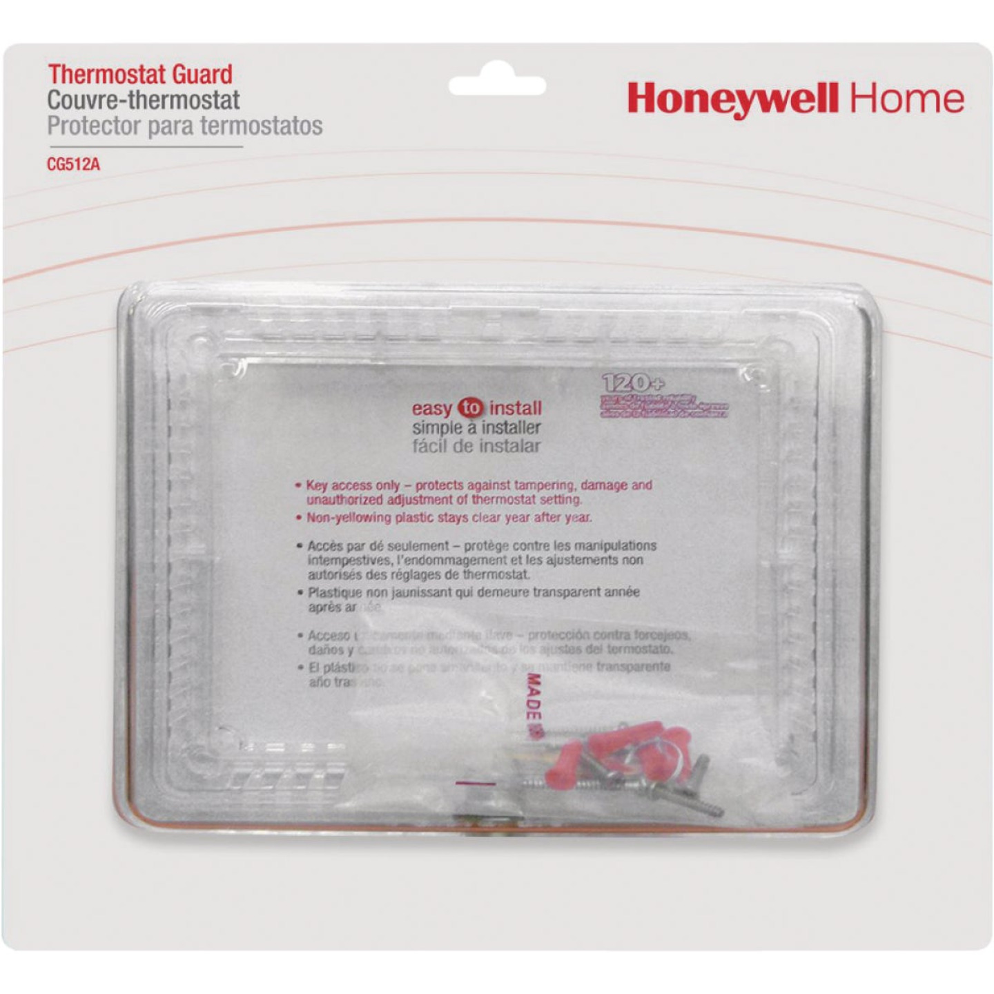Honeywell Clear 9-3/4 In. 7-1/4 In. Thermostat Guard Image 1