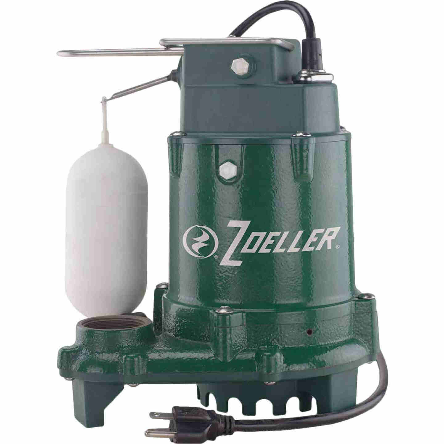 Zoeller 1/3 HP Pro 115V Cast Iron Submersible Sump Pump Image 1