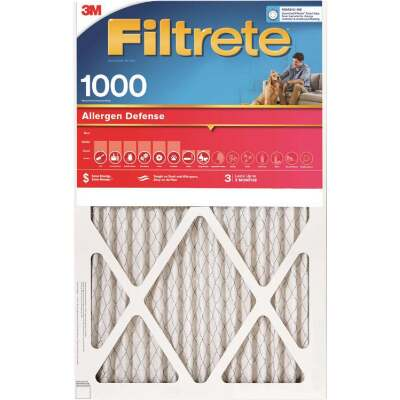 3M Filtrete 12 In. x 12 In. x 1 In. Allergen Defense 1000/1085 MPR Furnace Filter