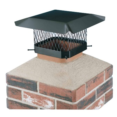 Shelter 9 In. x 9 In. Black Galvanized Steel Chimney Cap