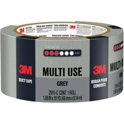 3M 1.88 In. x 10 Yd. Multi-Use Home & Shop Duct Tape, Gray