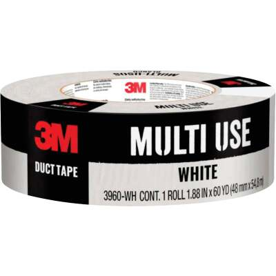 3M 1.88 In. x 60 Yd. Colored Duct Tape, White
